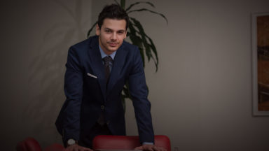34534902 - portrait of a handsome casual businessman smiling